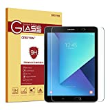 OMOTON Panzerglas Schutzfolie für Galaxy Tab S3 9.7 mit [9H Festigkeit][ Anti-Kratzen][Kristall-klar][Bläschenfrei zu Montage]