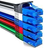 deleyCON 5x 2m CAT6 Cavo di Rete Set - U-UTP RJ45 CAT-6 LAN Cavo Patch Cavo Rame per Interruttore Router Modem Ripetitore - Multicolore
