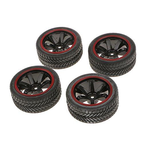 Satz Von 4 Rallye-Reifen Reifen & Felgen Mit 12mm Hex Für Rc 1/10 Hsp Auto