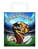 Bolsas de fiesta temáticas de rugby, para regalos, botín, eventos, colores de los jefes (paquete de 6)