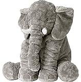 Rainbow Fox Elephant Stuffed Plush Toy Cute Animals Cushion for Festival Gifts (Grey)