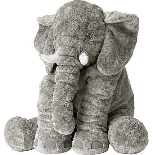 Tickos Peluche Elefante Giocattolo Morbido Elefante Cuscino Elefante Cojines per Donne, Adorabili, Divertenti (Gris)