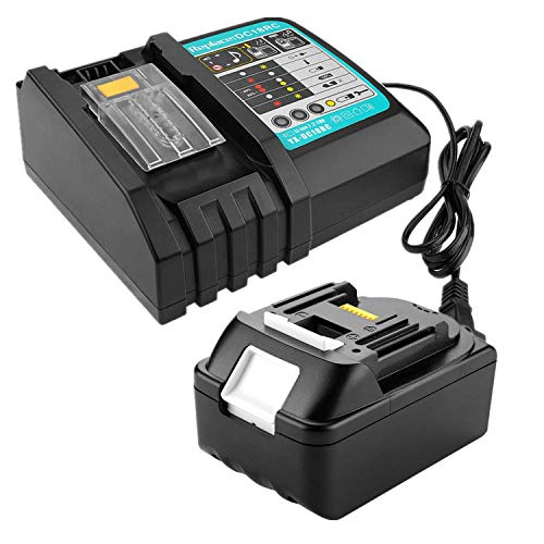 Batterie BL1850 18 V 5,0 Ah + chargeur 3 A DC18RC de rechange pour perceuse à percussion Makita 18 V DHP453Z DHP482Z radio de chantier DMR110 coupe-bordure DUR181Z Taille-haie DUH523Z