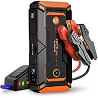 Tacklife T8 Pro 1200 Peak 18000mAh Water-Resistant Car Jump Starter with LCD Screen, USB Quick Charge, 12V Auto Battery Booster