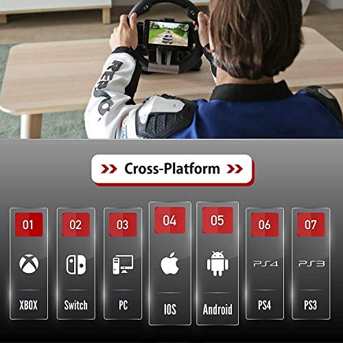 スマホ、iOS、Android、PS4、PS3、Switch、ゲーム機、PC、パソコン向けハンドルコントローラー:SerafimR1+