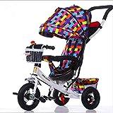 Portable vélo pliant bébé vélo voiture de bébé vélos trois roues 1-3-6 ans bébé bébé poussette vélo Cadeaux,B