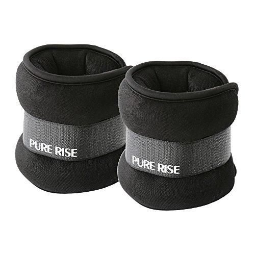 PURE RISE(ピュアライズ) リストウェイト 2kg 2個セット (ブラック)