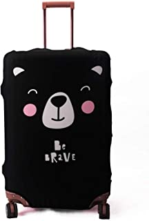 Spandex Travel Luggage Protector Suitcase Cover Fit 23-32 Inch Luggage (Black-Bear, XL(29