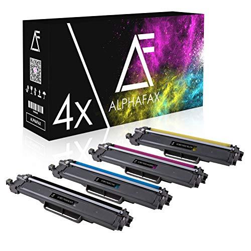 Alphafax 4 Toner kompatibel für Brother TN-243 | MIT CHIP | HL-L3210CW HL-L3230CDW HL-L3270CDW DCP-L3510CDW DCP-L3550CDW MFC-L3710CW MFC-L3730CDN MFC-L3750CDW MFC-L3770CDW
