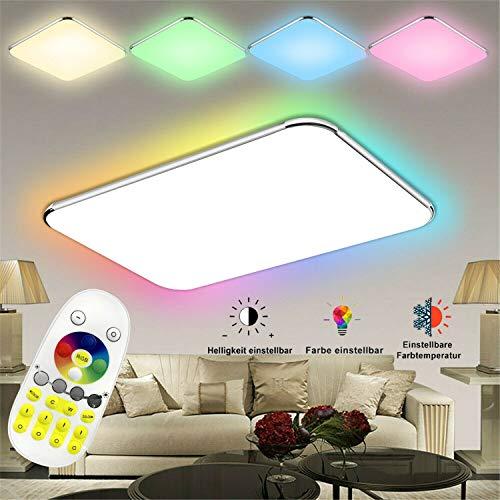 Froadp 48W Ultraslim LED Deckenleuchte Flur Wohnzimmer Kinderzimmer Wand-Deckenlampe Schlafzimmer Küche Licht(48W RGB)