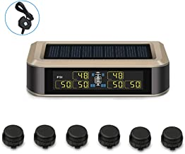 B-Qtech Newest Wireless TPMS Solar Power Tire Pressure Monitoring System RV Truck TPMS with 6 Sensors and with Booster for Car RV Truck Tow Motorhome Travel Trailer�s Pressure and Temperature