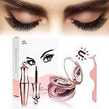 Fau Cils Magnétique, Eyeliner Magnetique, Magnetic Eyeliner Kit De Cils Magnétiques, Réutilisable 5 Aimants 3D Faux Cils, Pince...