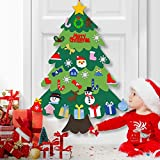 Cusbus 3.3ft DIY Felt Christmas Tree for Toddlers with 34pcs Detachable Ornaments Set, Christmas Decorations Xmas Gifts for Kids, New Year Door Wall Hanging Home Decor, Christmas Decor Party Supplies