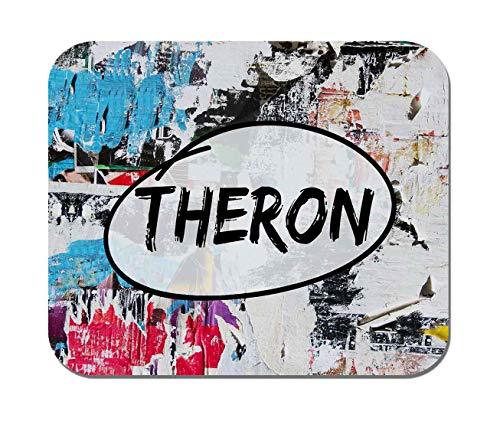 Makoroni - Theron Name - Non-Slip Rubber - Computer, Gaming, Office Mousepad