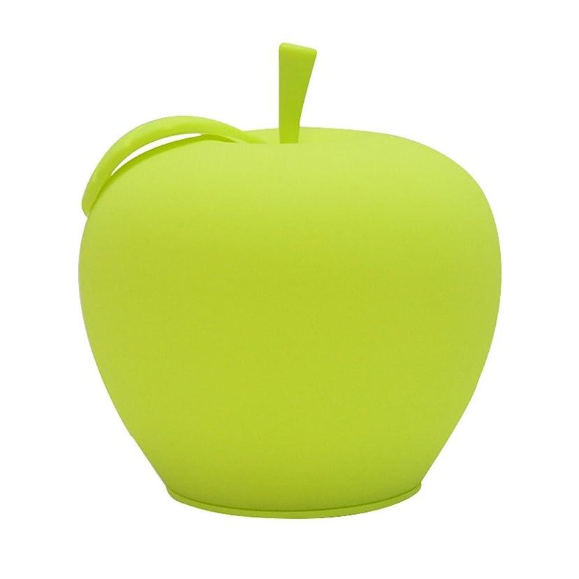 怒っている道小麦Deerbird? 5調光モード内蔵1800MAHリチウムバッテリー7色の変更アップル形LED環境保護シリコーンランプ(グリーン)