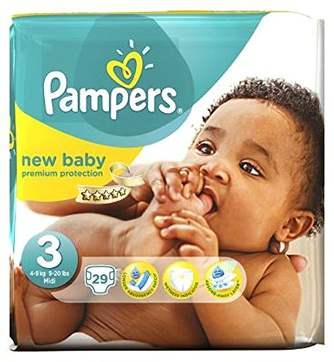 機構試す池パンパース新しい赤ちゃんのおむつのサイズ3から29おむつ (Pampers) (x2) - Pampers New Baby Nappies Size 3 - 29 Nappies (Pack of 2) [並行輸入品]