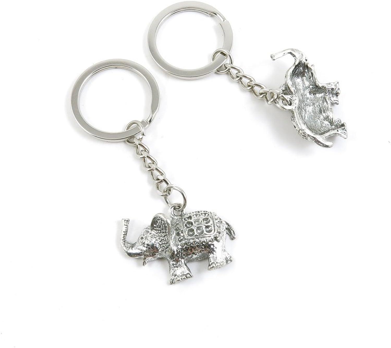 120 Pieces Fashion Jewelry Keyring Keychain Door Car Key Tag Ring Chain Supplier Supply Wholesale Bulk Lots W2HL3 Thai Elephant