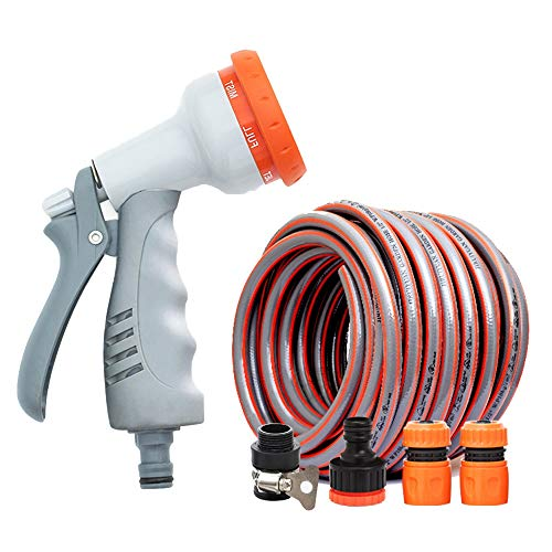 High Pressure/Friction Resistance/Garden Hoses, Solid Brass Hose Spray Nozzle Aging Resistance/Triple Latex Pipe/Best Choice for Watering and Washing (20m / 30m / 40m / 50m) / (2 Piece Set)