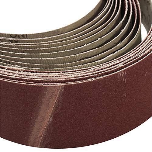 WNJ-TOOL, 10Pcs Schleifschleifband 50x686mm Schleifpapier for Bandschleifer Bench Grinder Schleifen Polierwerkzeug 60-150 Grit