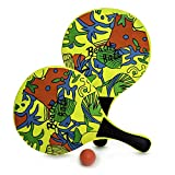 Pro Impact Beach Paddle Ball Set Yellow Comes with 2 Paddles and 1 Ball in a mesh Bag