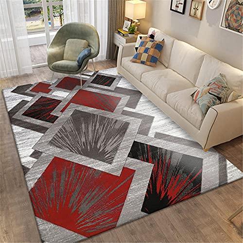 Tappeti tappeto per cucina Design geometrico grigio rosso tappeto anti-fouling complementi d arredo per salotto arredamento casa moderno 160*230cm