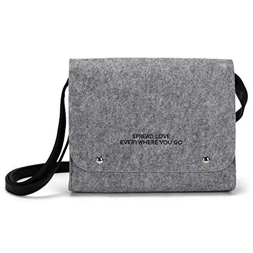 Faithworks Felt Collection Cross Body Bag, 10 x 8-Inch, Spread Love