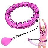Hula-Hoop - Pneumatico per fitness, non cadono, regolabile, 24 parti rimovibili, hoop Fitness con nodi massaggianti, Hoola Hoop per adulti principianti per perdere peso e fitness