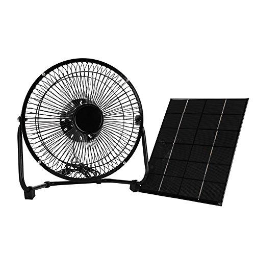 Mini Ventilador de enfriamiento, Ventilador de Panel Solar USB 5.2W 6V Ventilador de enfriamiento de Hierro + Panel Solar para Viajes al Aire Libre y Oficina en casa