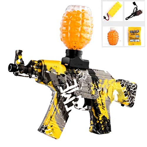 AK47 Wasserpistole Wassergeschosse Pistole Spielzeug für Jungen Kunststoff Scharfschütze Soft Paintball CS Spiele Outdoor Kinder Waffe Spielzeug Pistolen,Gelb