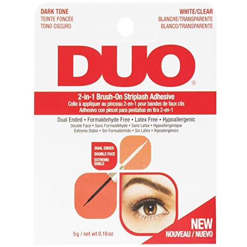 ARDELL DUO 2-in-1 Brush On Clear & Dark Adhesive, Wimpernkleber 2 in 1 transparent dunkel - das Original, 5g