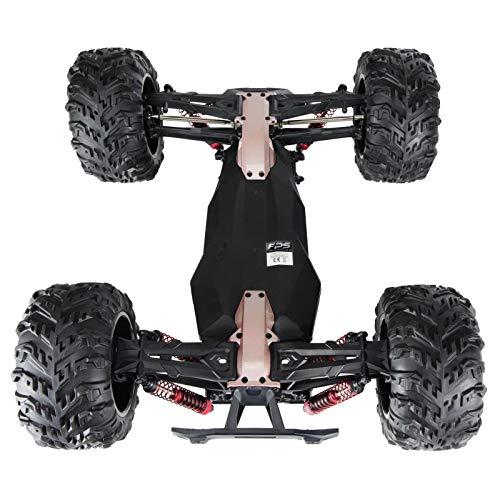 RC Auto kaufen Monstertruck Bild 6: RC Monstertruck 1:10 FPS V10 Offroad Elektro Auto - Dual Motor bis zu 50 km/h - 4WD - Allradantrieb, IPX4 Wasserdicht, 34cm, Differentiale, 2.4G Fernbedienung, 2 Speed Modes, inkl. 2x LiPo Akku, 4x AA*