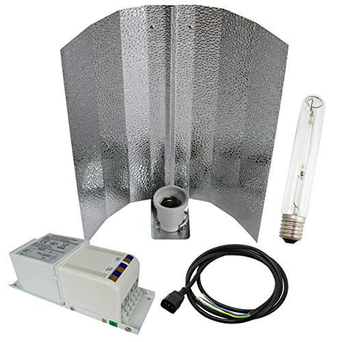 Cultivalley 400W Grow-Set, Profi Pflanzenbeleuchtung, Bausatz mit NDL Natriumhochdruck-Leuchtmittel für die Blüte HPS, Pflanzenlicht Perfekt zur Kultivierung von Pflanzen mit Blüten & Früchten
