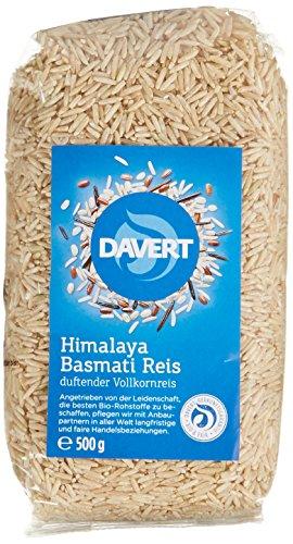 Davert Himalaya Basmati Reis braun, 4er Pack (4 x 500 g) - Bio