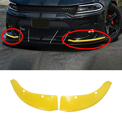 NINTE Front Bumper Lip Splitter Protector for 2015-2019 Dodge Charger SRT,Painted Yellow ABS Material Scat Pack Deflect Lip Guard Bumper Cover Protector
