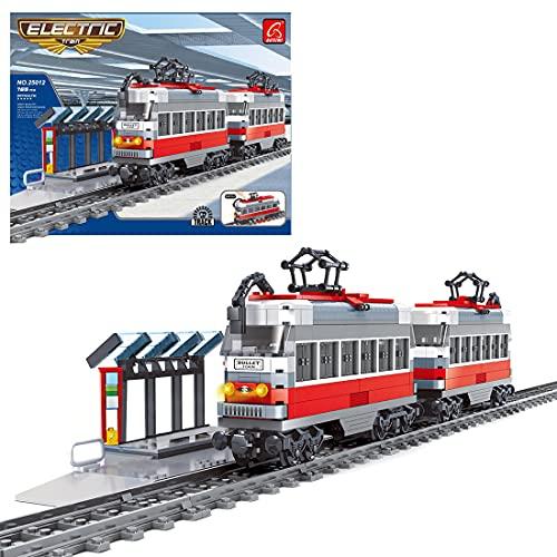 Gedar City Treno Kit Giocattolo da Costruire, Treno Merci con Motore per Bambini, 765 Pezzi Compatibile con Lego