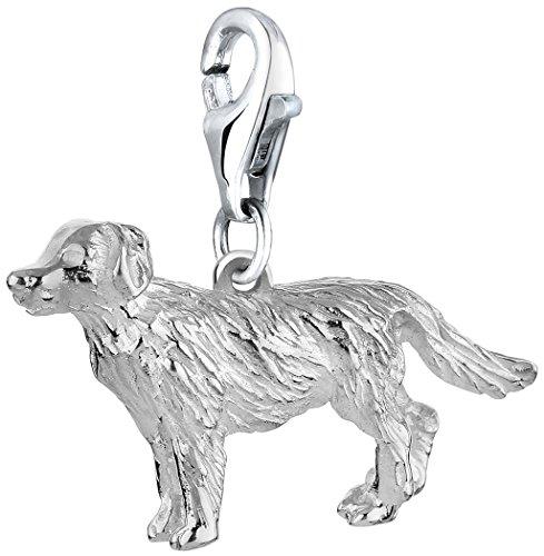 Nenalina Charm Golden Retriever Anhänger in 925 Sterling Silber für alle gängigen Charmträger 713170-000