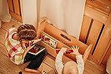 Mami - Librería Montessori de madera para niños   dormitorio infantil   Porta libros cómics cuadernos de dibujos   100% Made in Italy   2 estantes   Modelo Peter Pan