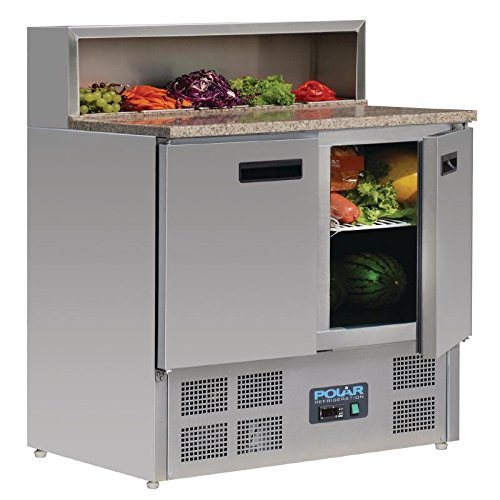Polar Kühl-Theke zur Vorbereitung von Pizza, 288l, gewerblicher Kühler, 1100x 900x 700mm