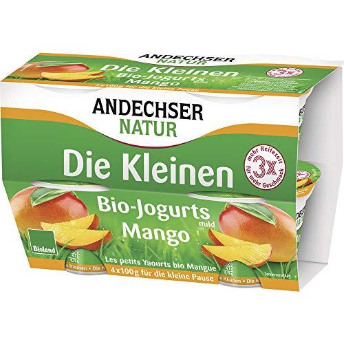 Andechser Natur Bio AN Bio-Jogurt Mango 4 x 100g Cluster (6 x 400 gr)