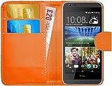 G-Shield Hülle für HTC Desire 620/620g Klapphülle mit Kartenfach - Orange