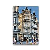 Premium Textil-Leinwand 30 x 45 cm Hoch-Format Grand Hotel