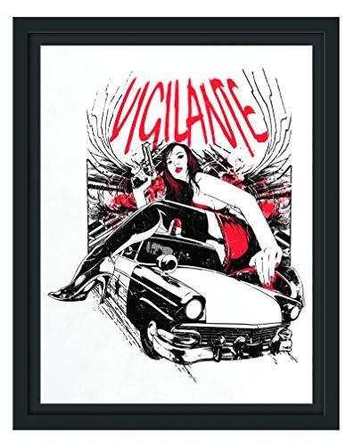 Vigilante Light im Schattenfugen Bilderrahmen | Format: 38x30 im Schattenfugen-Bilderrahmen | Kunstdruck auf hochwertigem Galeriekarton | hochwertige Leinwandbild Alternative