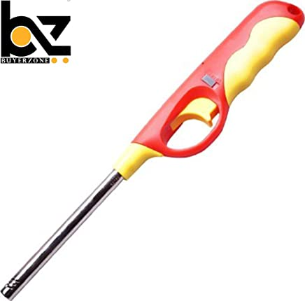 BUYERZONE WITH BZ LOGO Plastic Gas Lighter for Kitchen Stove with Adjustable Flame and Gas refillable (Multicolour)