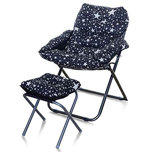 YULAN Single Sofa stoel Casual klap slaapkamer computer stoel huis slaapkamer eenvoudige balkon ligstoel 58 * 66 * 91 cm