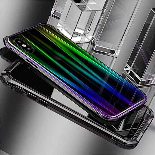 Momoxi Handyhülle, Phone Accessory Handy-Zubehör Für iPhone XS 5,8 Zoll Magnetic Adsorption Metallstoßglas Schutzhülle, begrenzte Anzahl