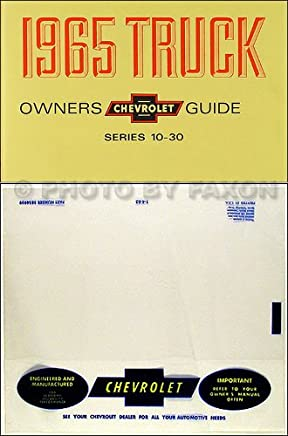 1965 chevrolet truck & pickup owners instruction & operating manual - plus  envelope c, k