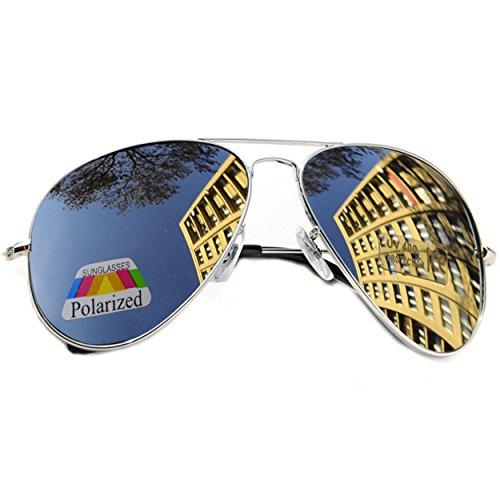 MFAZ Morefaz Ltd Kinder Junge Mädchen Sonnenbrille Gespiegelt Polarisiert Pilot Style Sunglasses (A Silver Gespiegelt)