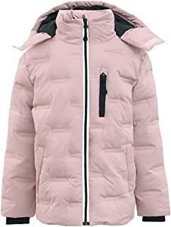 Boys Girls Non Stitch Hooded Insulated Jacket Winter Puffer Coat