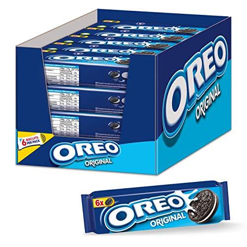 OREO Original 20 x 66g, Knuspriger Kakao Doppelkeks gefüllt mit veganer Crème-Füllung