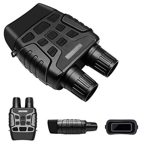 Lixada Jumelles numériques de Vision Nocturne 4X Zoom avec capacité vidéo de caméra pour l'observation de Surveillance de spéléologie de Chasse en Plein air